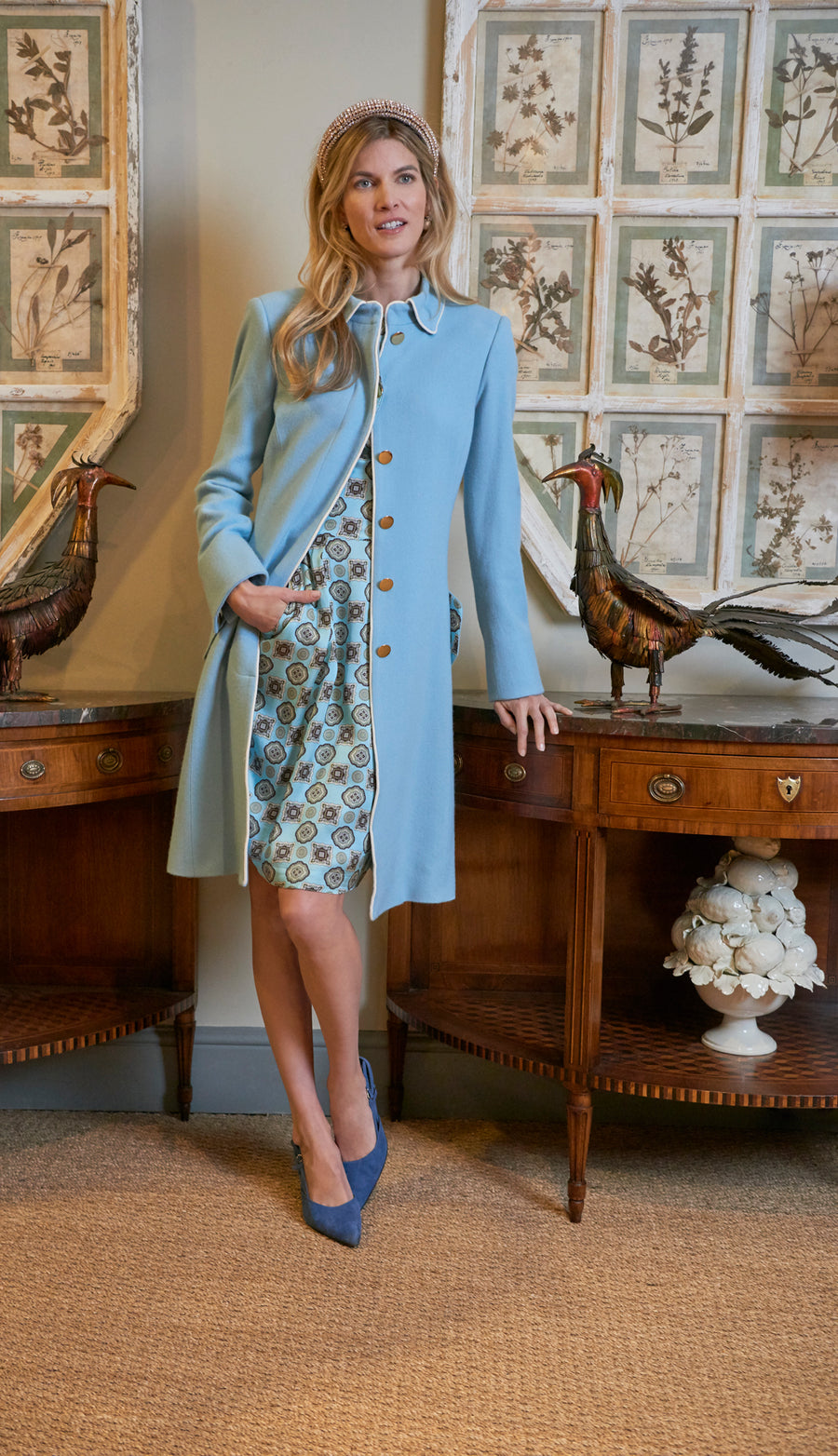 George Coat Pale Blue