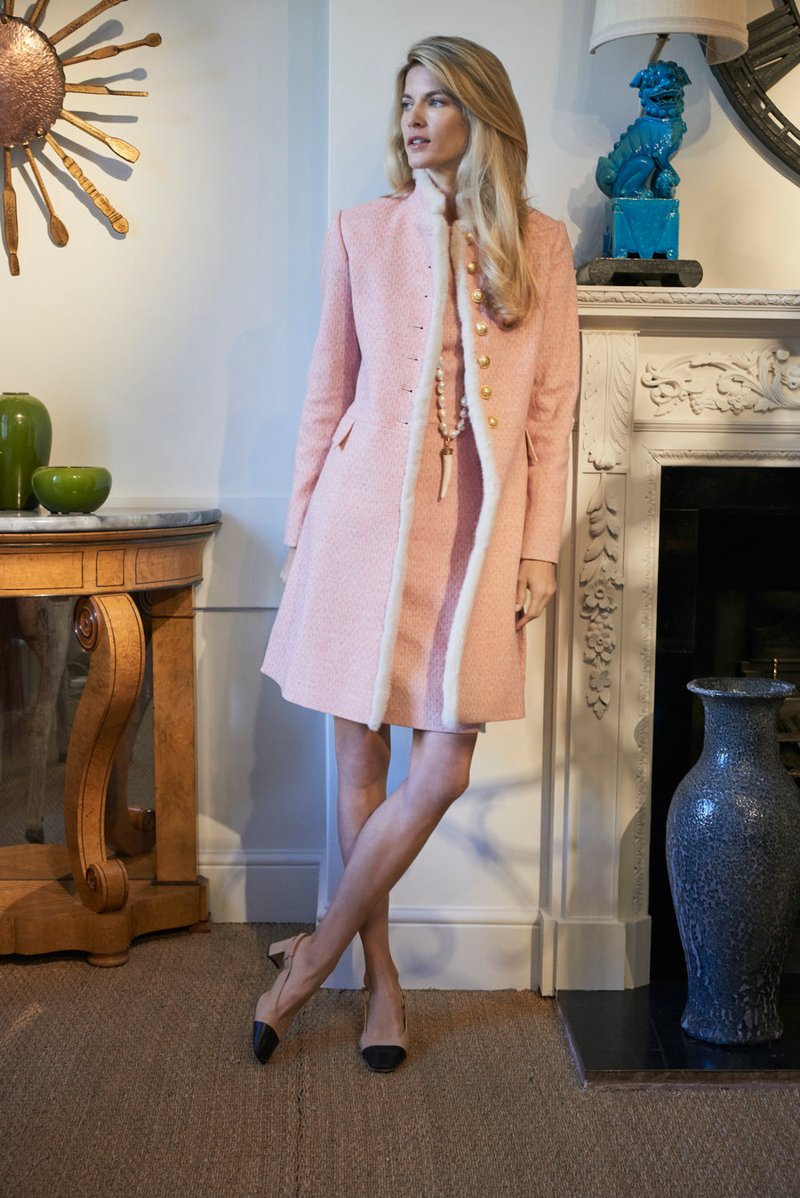 Cream Label Dress Coat Pink