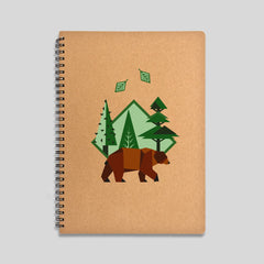 Brown bear notebook