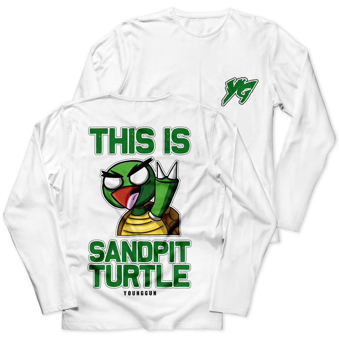 Sandpit Turtle White Tee - Boketo Media