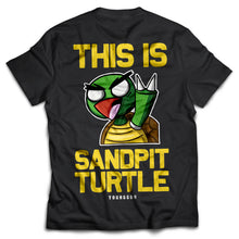 Load image into Gallery viewer, Sandpit Turtle Black Tee - Boketo Media