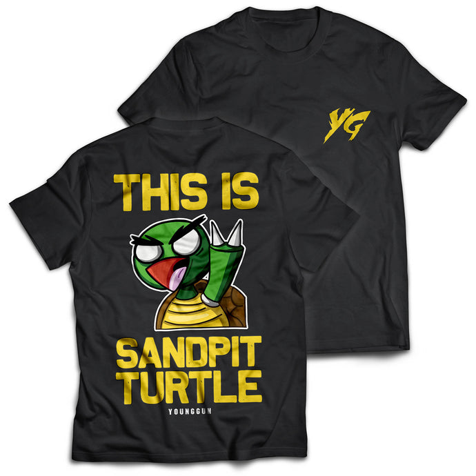 Sandpit Turtle Black Tee - Boketo Media
