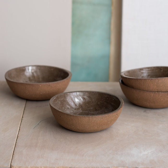 DARK SAND SALAD BOWL