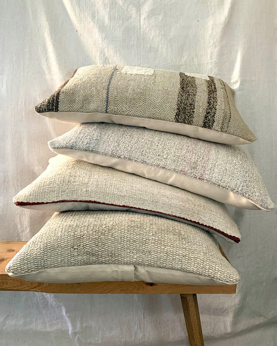 Natural Hemp Patchwork Cushion