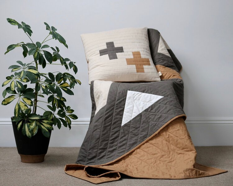 Hopton Clay Throw Quilt