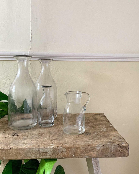 French 19C small glass carafe