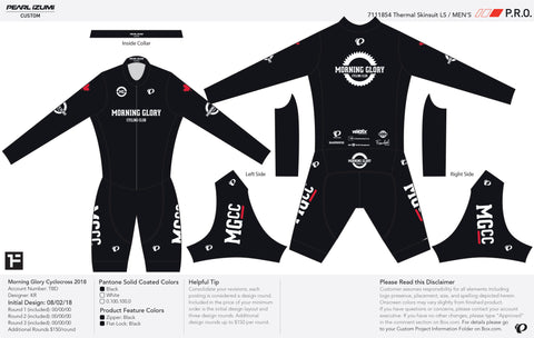 Pearl Izumi Unisex Black PRO LTD Thermal Race Suit LS