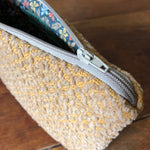 Load image into Gallery viewer, Beige Chenille Handwoven Pouch