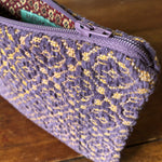 Load image into Gallery viewer, Purple Chenille Handwoven Pouch