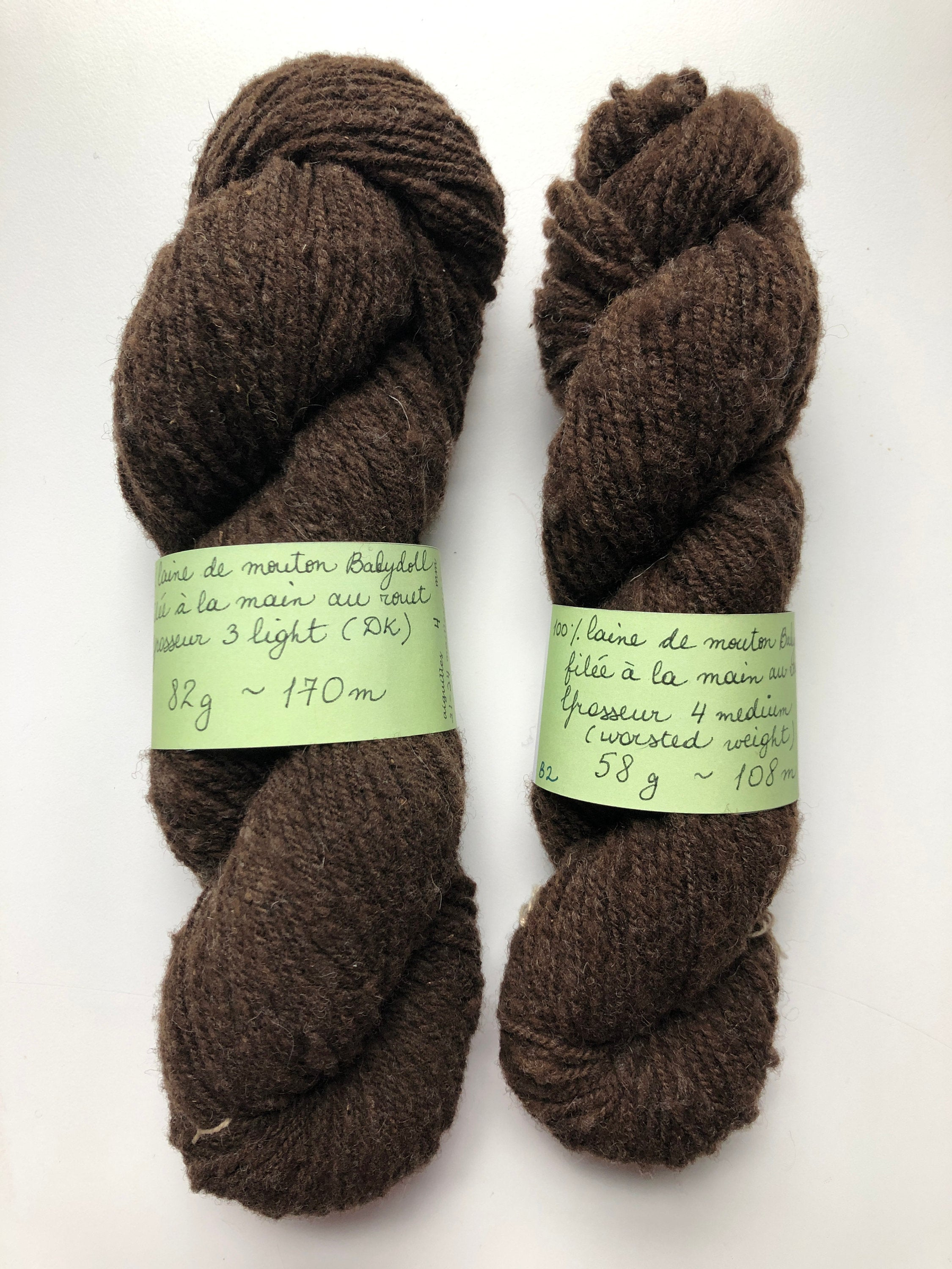 Natural Brown Worsted Weight Wool Yarn