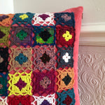 Load image into Gallery viewer, Pillow Cover with Crocheted Decor
