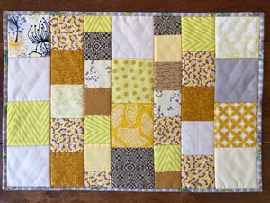 Sunny Patchwork Placemat, Dark Backing