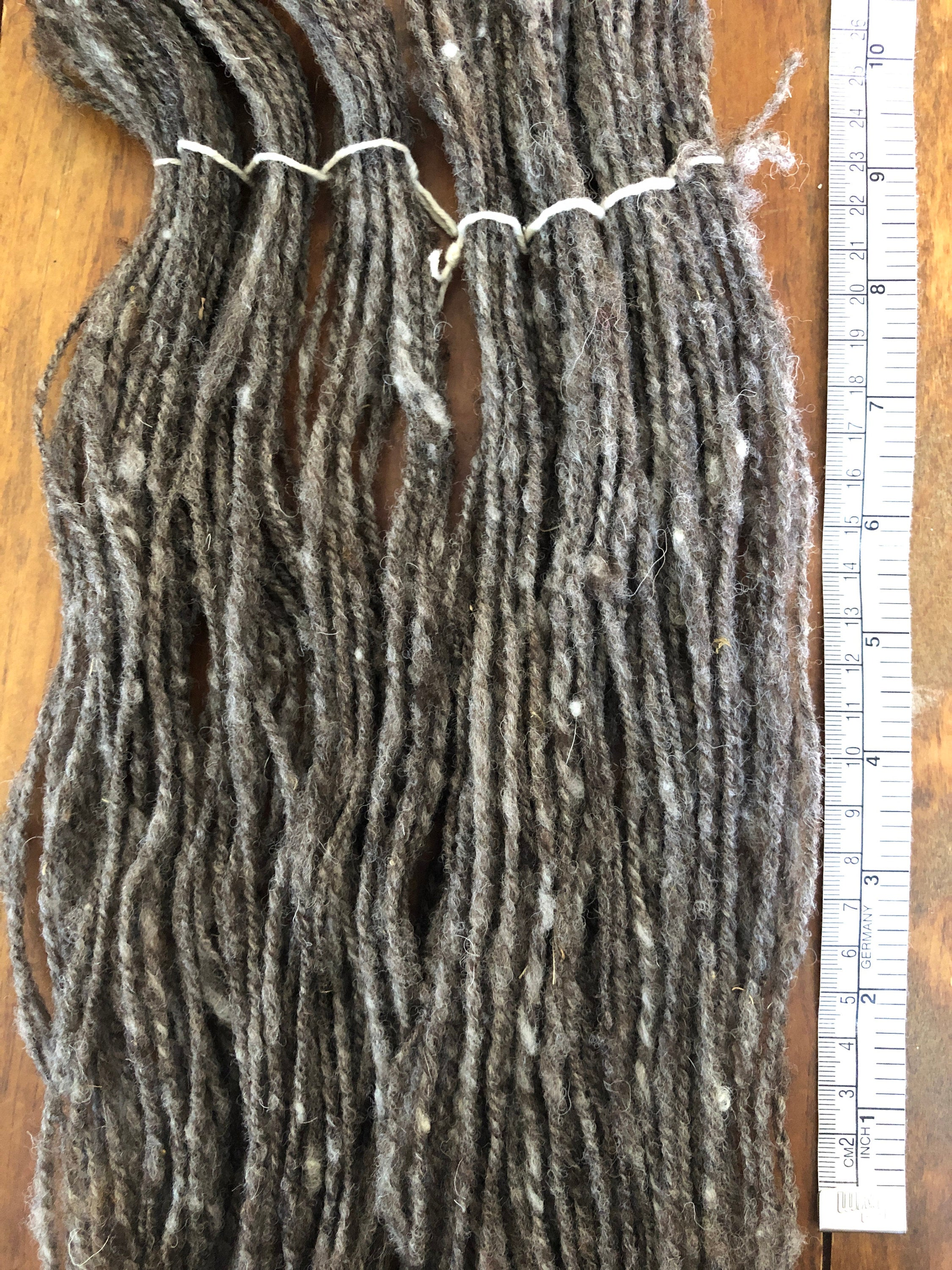 Natural Gray Heavy Worsted Wool Yarn