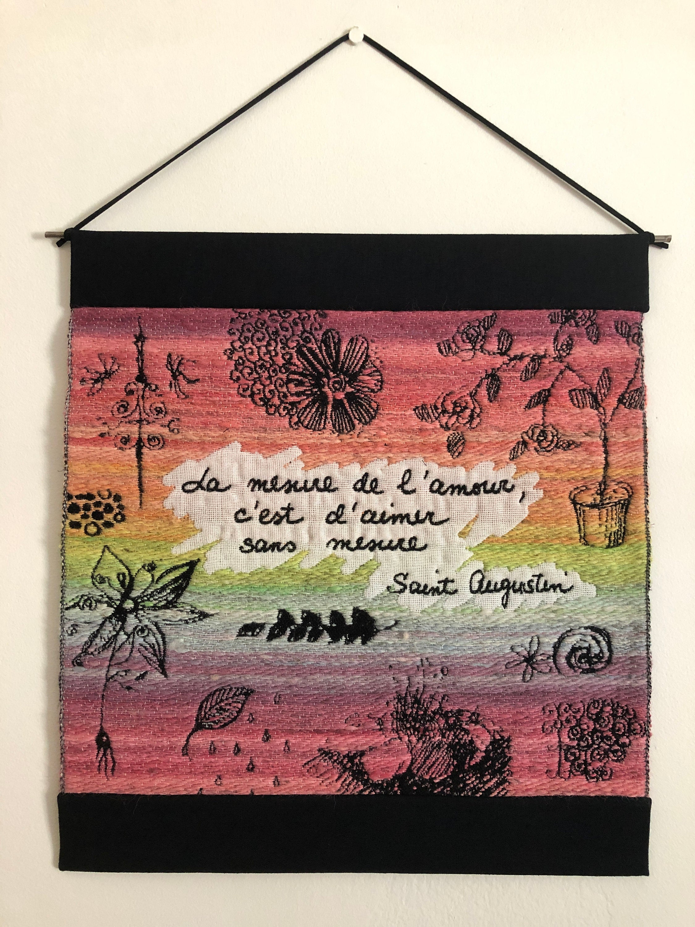 Measure of Love - Jacquard Tapestry Wall Hanging
