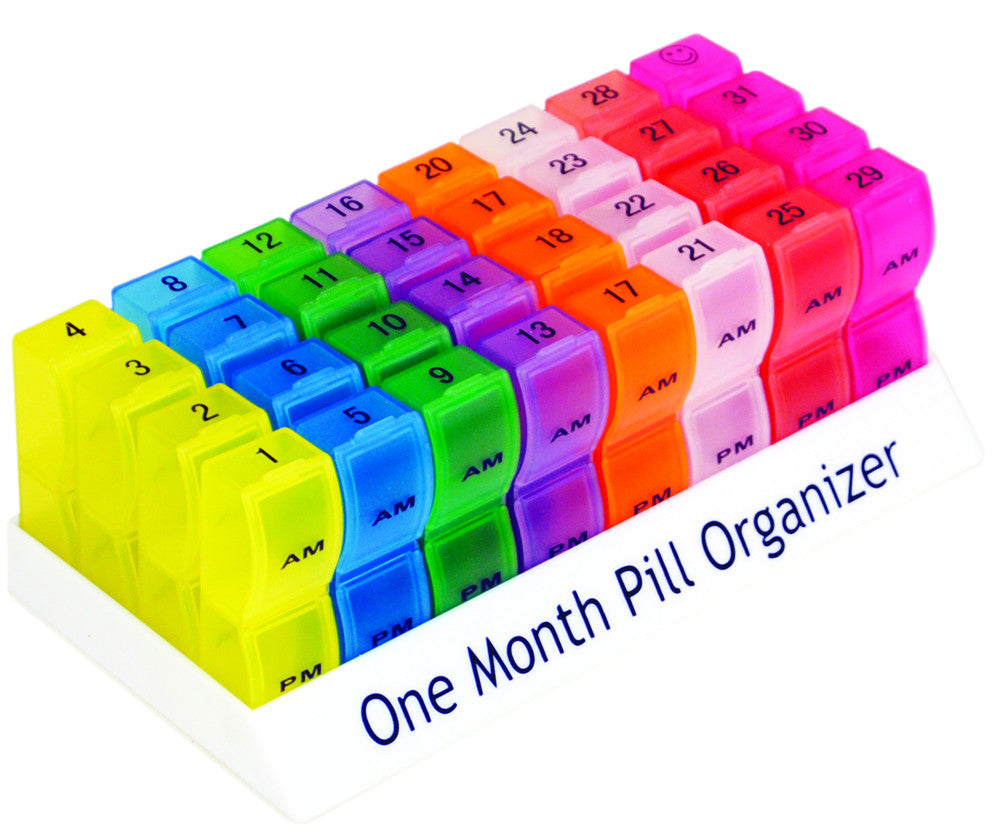 Aidapt Colourful One Month Pill Organiser