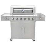 3 Embers® Six Burner Stainless Steel Dual Fuel Propane Gas Grill