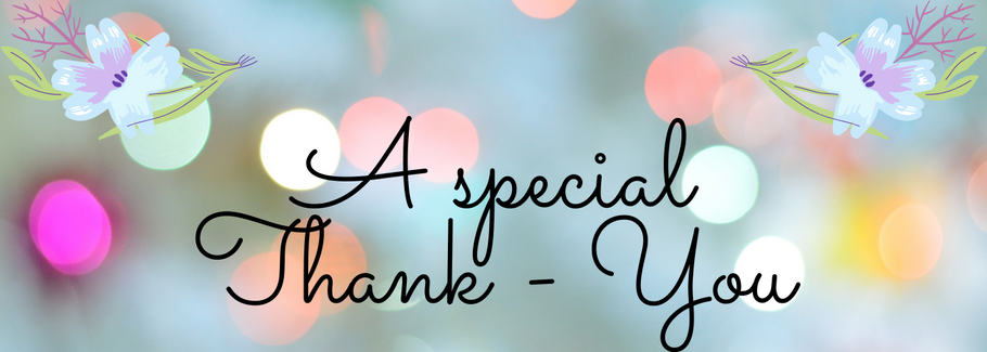 Tracy's Special Thank-You Blog
