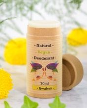 Load image into Gallery viewer, Green Ladies NI Natural Vegan Deodorant Awaken Open Cap