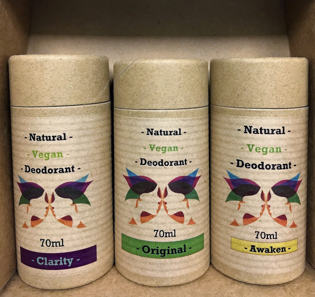 Natural Deodorant 70ML Triple Pack - Vegan Range - Gift Ideas