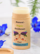 Load image into Gallery viewer, Green Ladies NI Natural Vegan Deodorant Fragrance Free Open Cap
