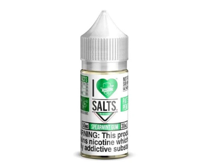 I Love Salts by Mad Hatter - Spearmint Gum (30ml)