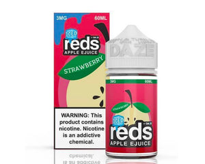 7 Daze - Reds Apple Strawberry Iced (60ml)