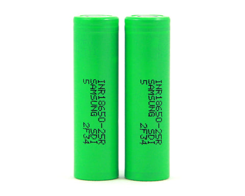 Samsung 25R 18650 2500mAh Batteries (2 Pc)