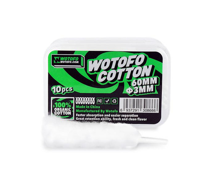 Wotofo Agleted Organic Cotton (10pc)