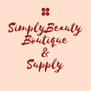 pink and burgundy cursive Simply Beauty Boutique & Supply