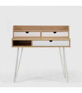 Jerry Kids Desk - White & Natural