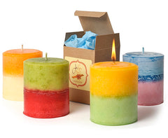 JenSan Hawaiian Breeze Duotone Pillar Candle