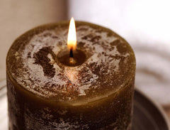 JenSan Sandalwood Pillar Candle