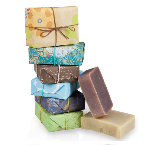 JenSan 6 Piece Assorted Handmade Organic Soap Gift Set