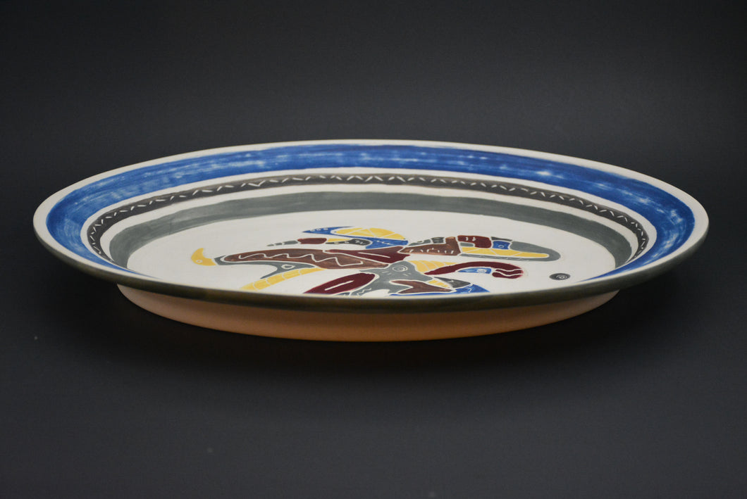 AS-01 Ceramic decorative Oval Plate - Assiette Façonnée décorative porcelaine