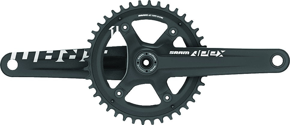 Pedalier Sram Apex 1 42T BB30 172.5mm Blk