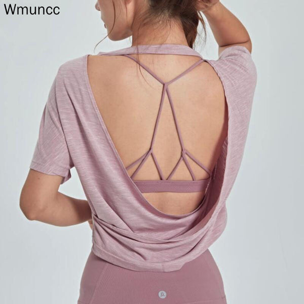 Open Back Sports Crop