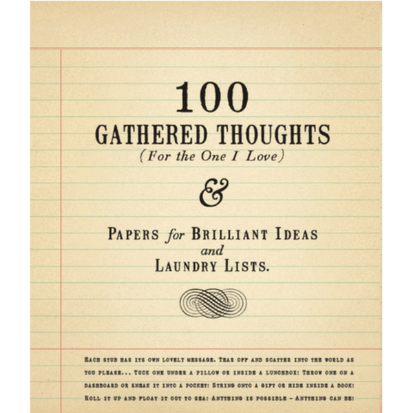100 Gathered Thoughts - r. h. ballard shop