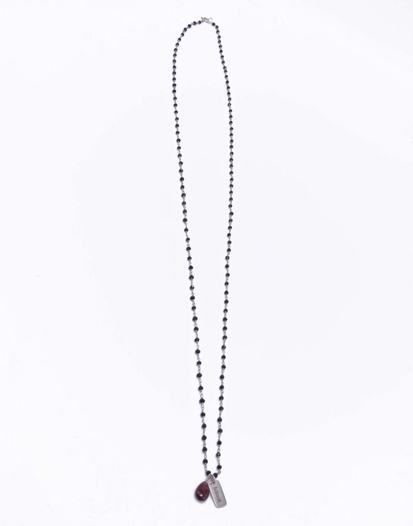 """Bisous"" Silver Necklace - r. h. ballard shop"