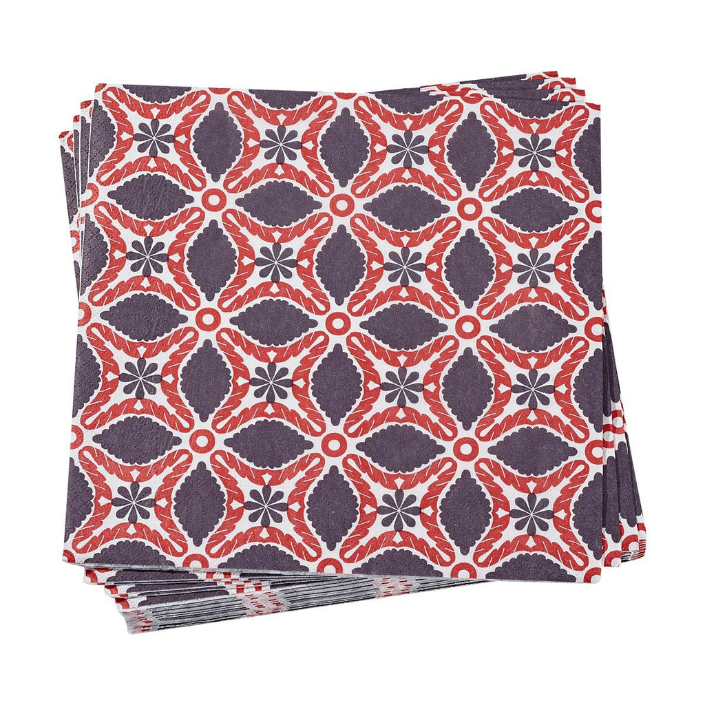 Bahia Red Paper Napkins - r. h. ballard shop