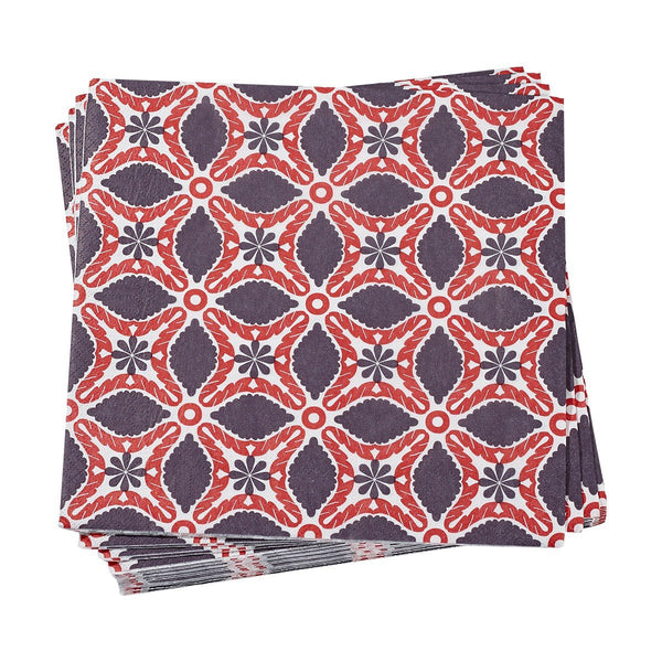 Bahia Red Paper Napkins