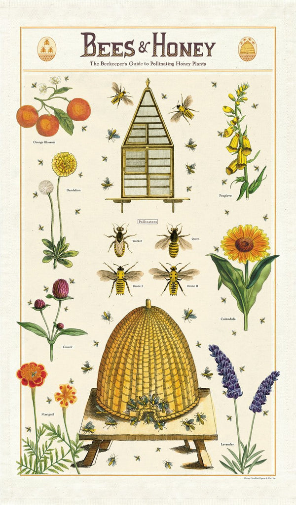 Bees & Honey Tea Towel - r. h. ballard shop