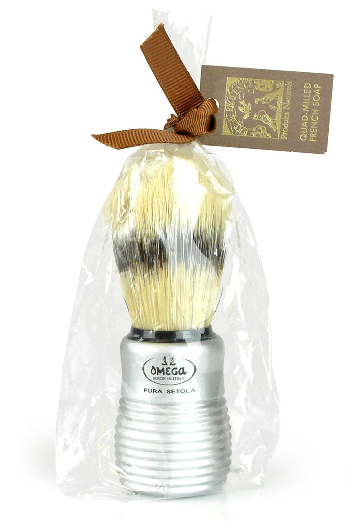 Boar Bristle Shave Brush with Aluminum Handle - r. h. ballard shop