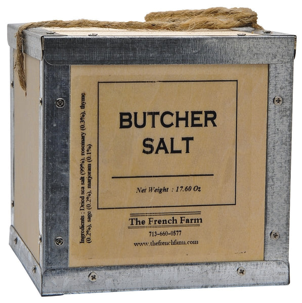 Butcher Salt in Wooden Box