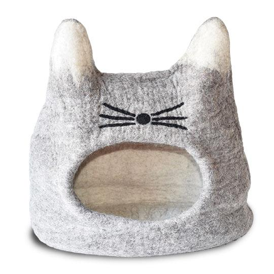 Gray Cat Bed - r. h. ballard shop