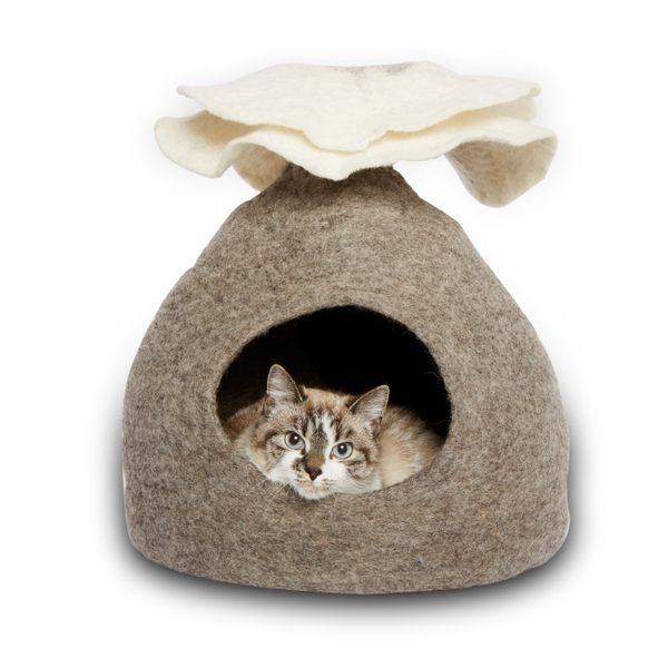 Bouquet Gray Cat Bed - r. h. ballard shop