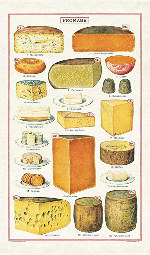 Cheese Tea Towel - r. h. ballard shop