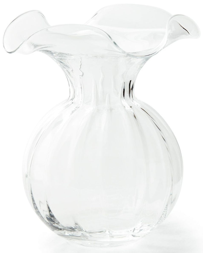 Hibiscus Clear Large Fluted Vase - r. h. ballard shop