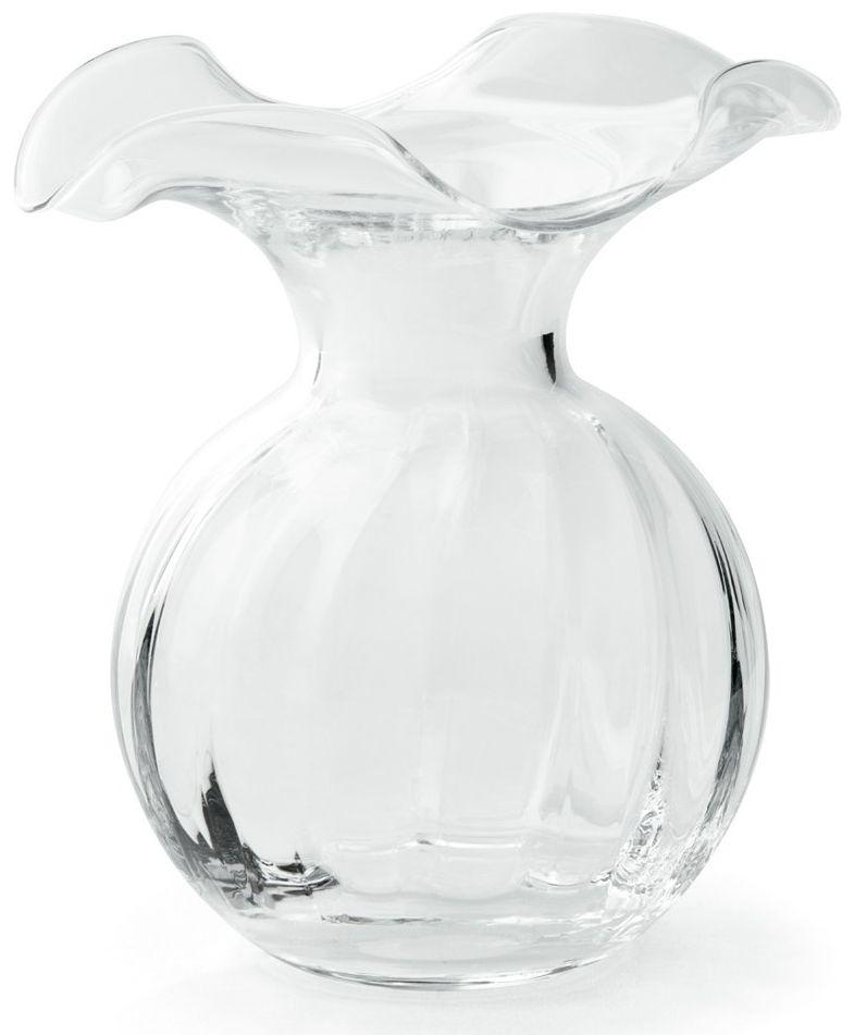 Hibiscus Clear Small Fluted Vase - r. h. ballard shop