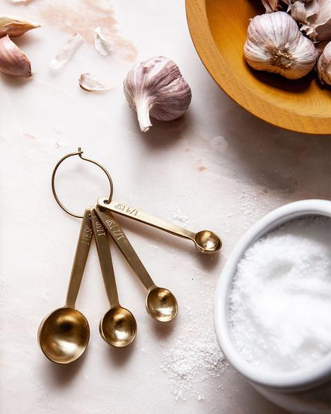 Brushed Gold Measuring Spoons - r. h. ballard shop