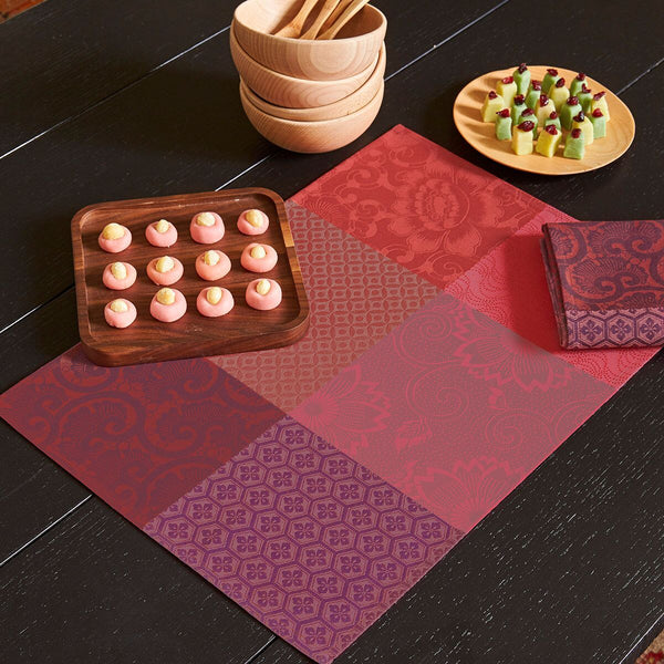 Fleurs de Kyoto Maple Coated Placemats Set of 2 - r. h. ballard shop
